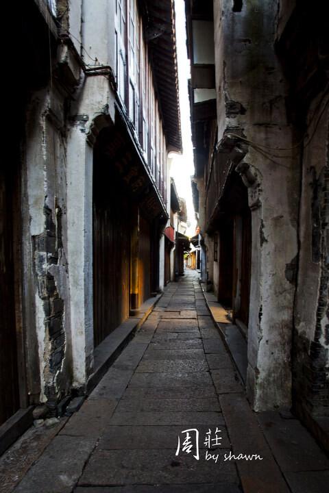 古街道中的一米阳光<br />