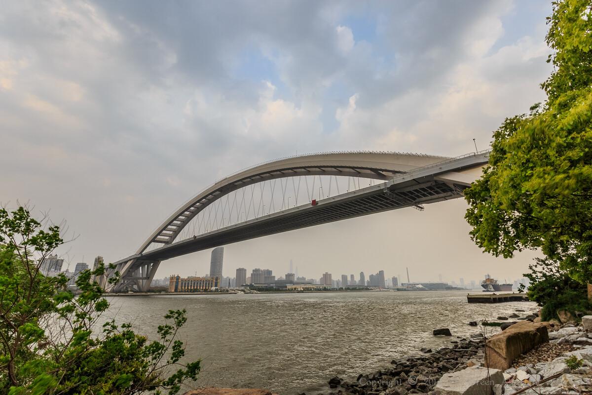 曾经的世界第一拱桥 卢浦大桥