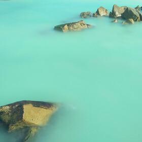 手机慢门拍摄。拍摄于海南蜈支洲岛