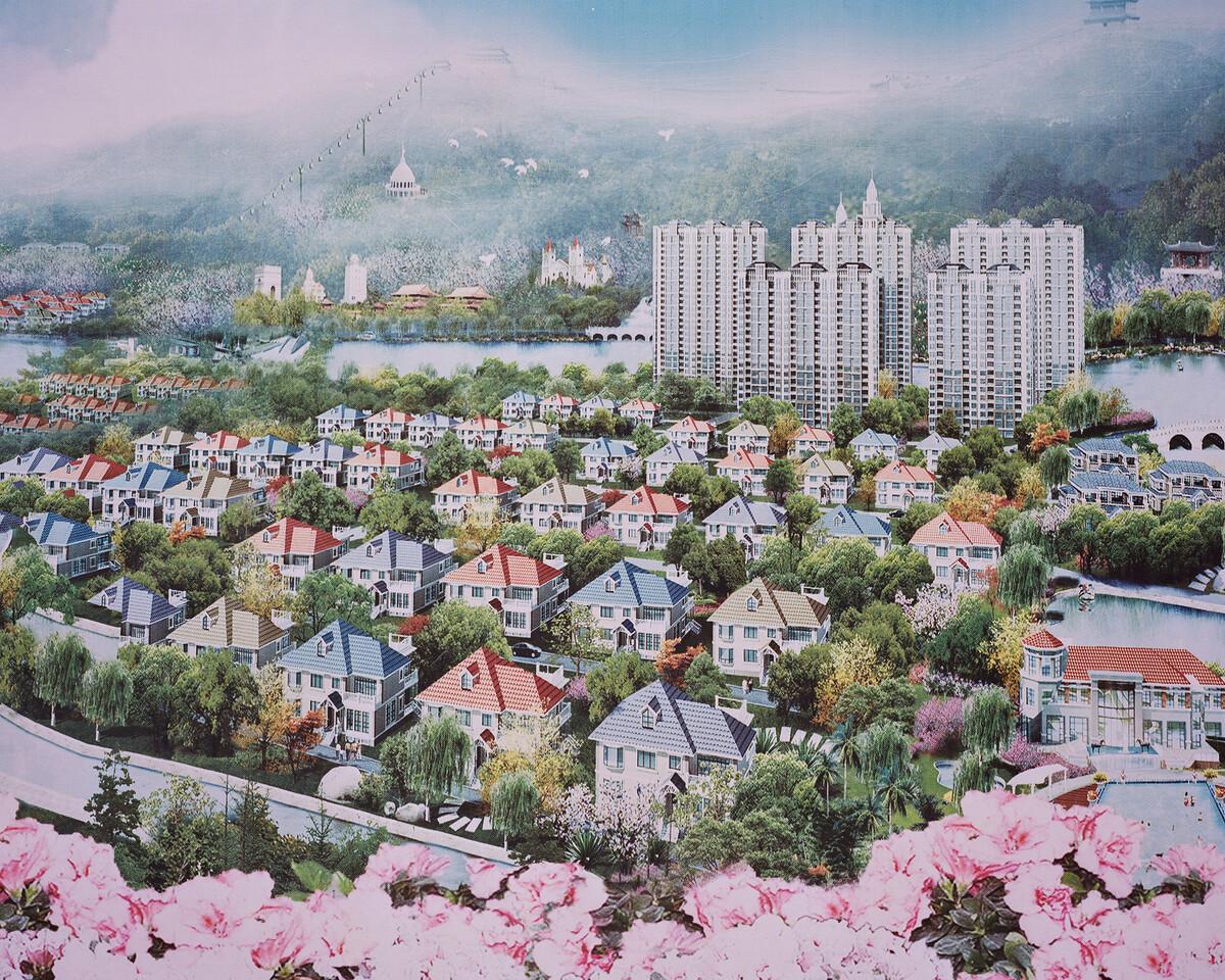1. 2018年3月6日,华西村,村景规划蓝图。