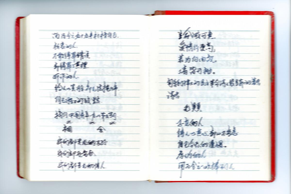 24. 年份未知,大寨村,日记本。