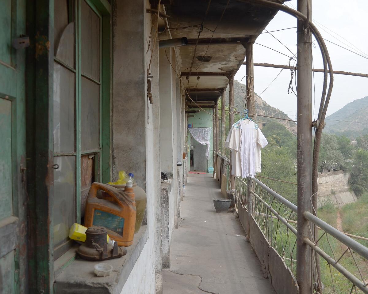 2016年9月 甘肃兰州 公寓的公共阳台