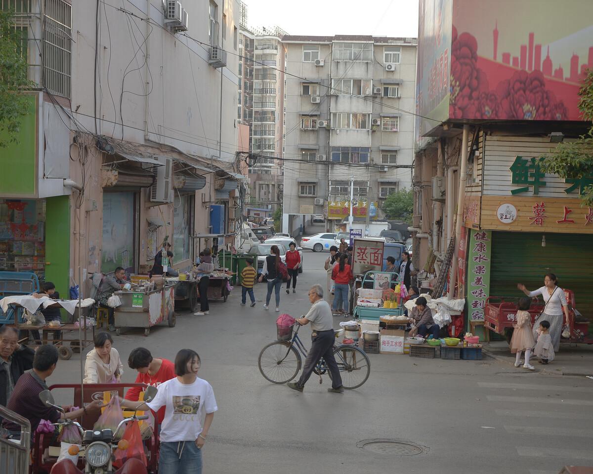 2018年4月 安徽淮南 下班后的街道
