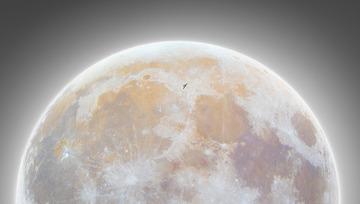 国际空间站凌月(创意图)