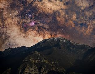 小五台雪顶银河