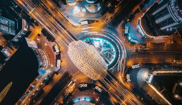 上海五角场之夜