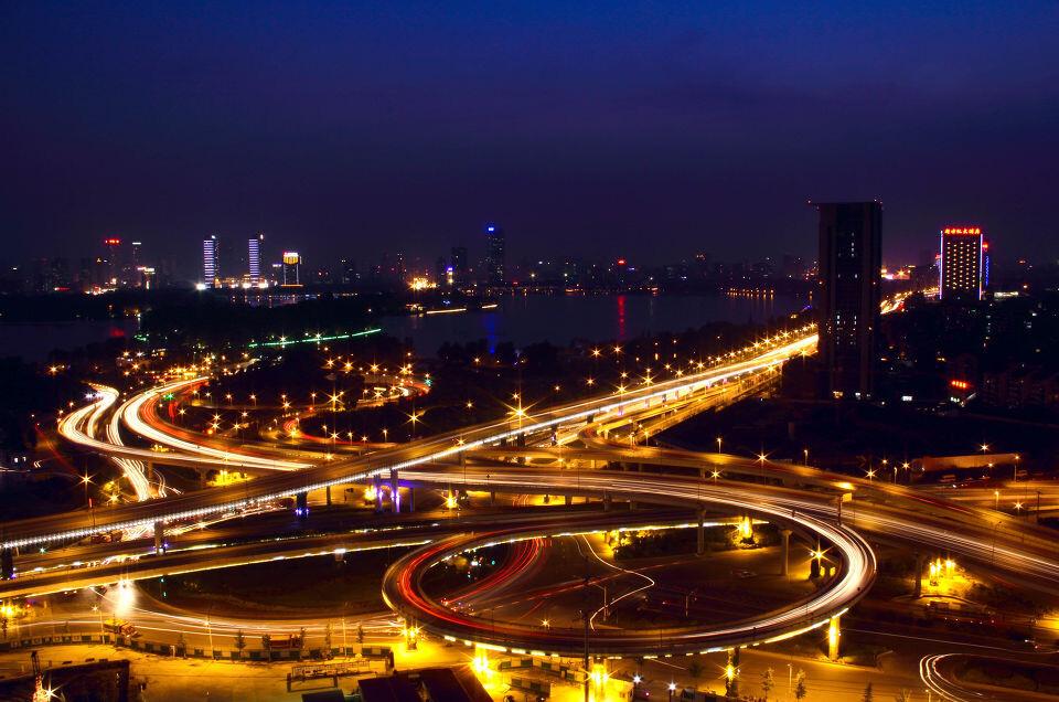 北京立交桥夜景_立交桥夜景2 - HYJRowena - 图虫摄影网