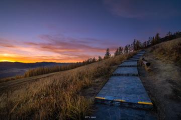 观鱼台日落