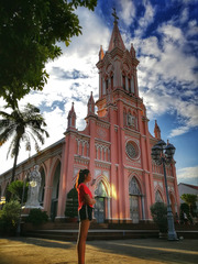 粉色教堂的余辉