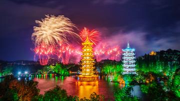 节日中的桂林