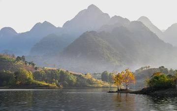 美丽关岭之打帮河的早晨