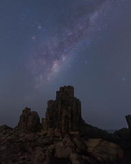 银河下的五指山 Galaxy above the Bombo Quarry