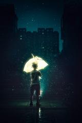 雨夜中的精灵