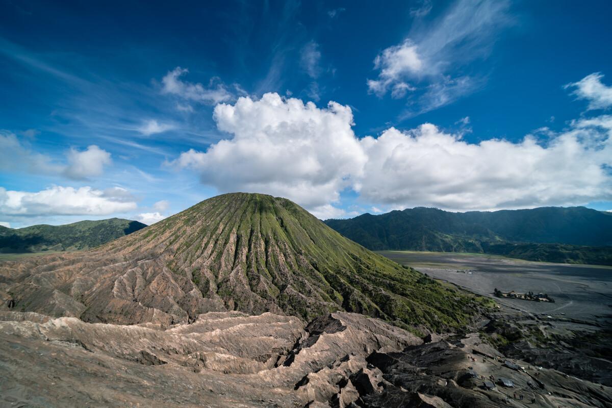 死火山的绿色生机