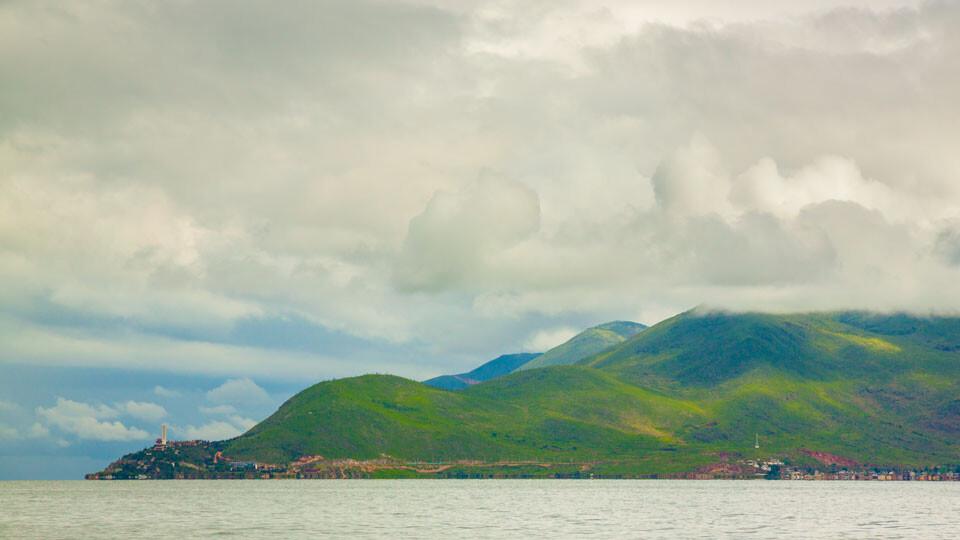大理,洱海上的金梭岛