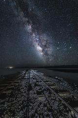 银河下的路轨